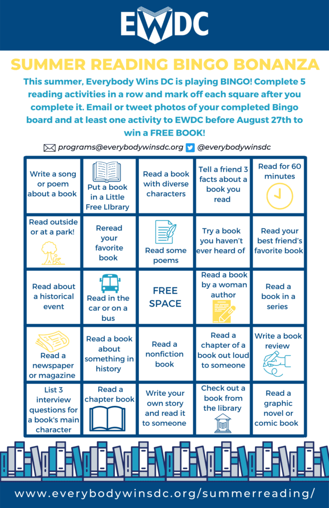 Bingo Board for Readers from 5th through 6th Grade!